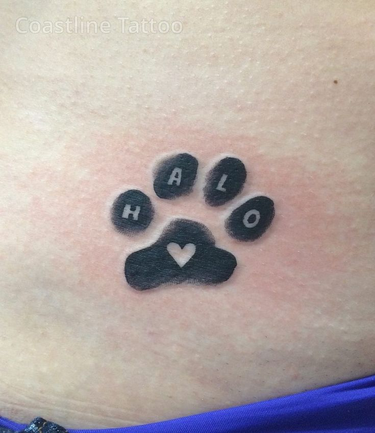 paw print tattoo with name – Google Search
