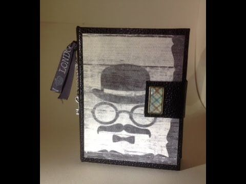 Mini album Porte cartes - YouTube