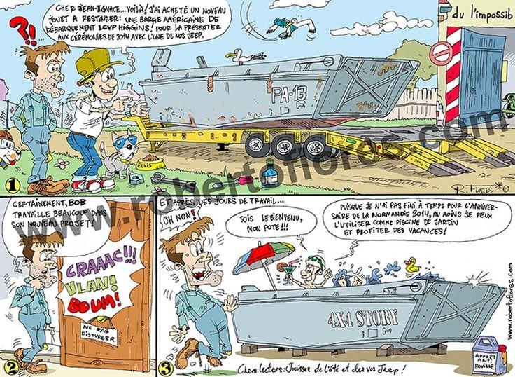 """#Cómic para la revista francesa """"4x4 Story"""", nº 57, julio-agosto 2014.  #Comic for issue  nº 57  """"4x4 Story"""", July-August 2014.  #BD pour le nº 57 du le publication """"4x4 Story"""", Julliet-Août 2014.  Frantses aldizkariarentzat #komikia """" 4x4 Story"""", 57 numeroa, 2014a uztailan-abustuan.  www.robertoflores.com"""
