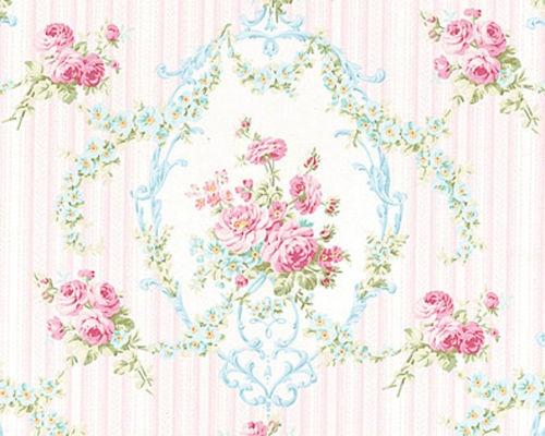 Cotton Bedding Clothworks Antique Rose Floral Damask Fabric