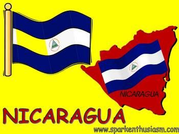 This 23 slide Nicaragua Power Point Show includes many beautiful photos along with up-to-date information about major cities, music, foods, dances, geography, and much more!  This Nicaragua Power Point includes a variety of music and sounds and is sure to motivate your students to want to learn more about the Spanish-speaking countries.