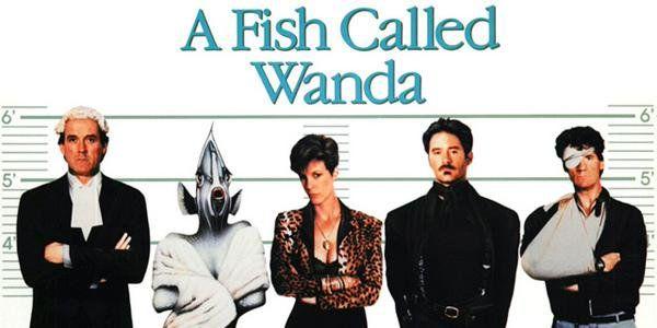 """#Anglais """"Un poisson nommé Wanda"""" 1988 de Charles Crichton avec John Cleese, Jamie Lee Curtis sur @mycineplus  Famiz"""
