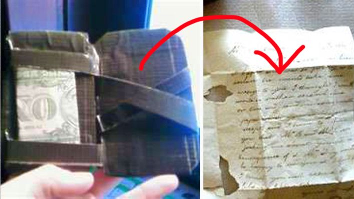 He Carefully Opened This Old Wallet, And Found A Secret That Had Remained Hidden For 60 Years. - http://www.lifebuzz.com/dear-john-letter/