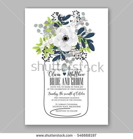 71 best paper wedding images on pinterest invitation cards image result for anemone wedding invitation card template floral bridal wreath bouquet with wight flowers stopboris Images