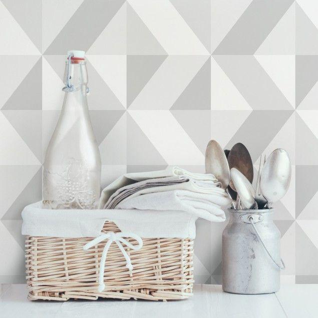 Die besten 25+ Geometrische tapete Ideen auf Pinterest Moderne - graue tapete wohnzimmerwohnzimmer fliesen beige matt