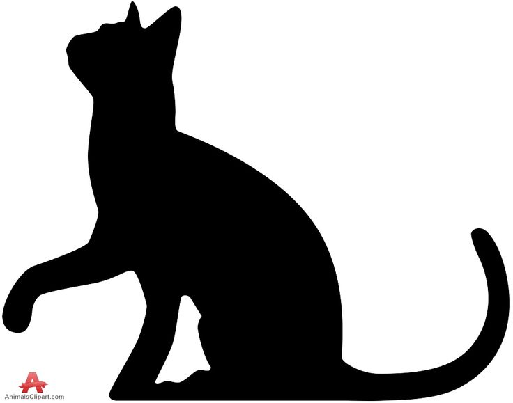 Download Cat Silhouette Looking Up | Free Clipart Design Download ...