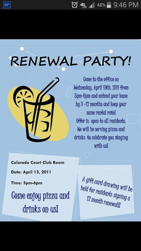 Simple renewal party
