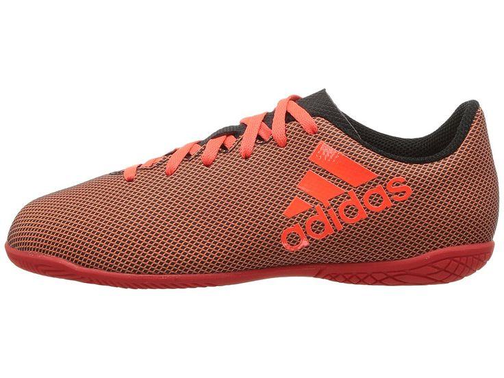 adidas Kids X 17.4 IN J Soccer (Little Kid/Big Kid) Kids Shoes Black/Red/Orange