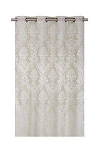 JACQUARD DAMASK WISTERIA FAUX LINEN 140X225CM EYELET CURTAIN