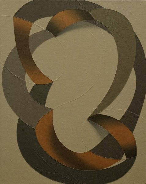 Tomma Abts. Folme 2003 Acrylic and oil on canvas 19 x 15 inches, 48 x 38 cm