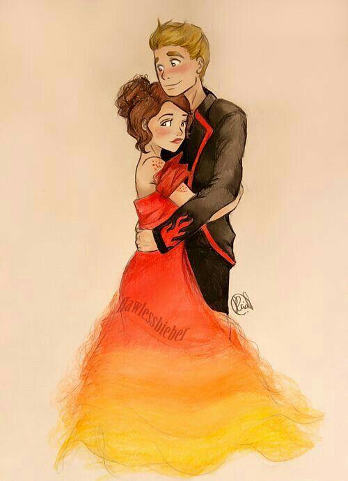 Katniss and Peeta ♡♡♡