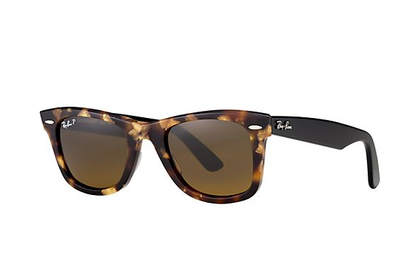 Ray-Ban 0RB2140 - ORIGINAL WAYFARER FLECK SUN | Official Ray-Ban Online Store Brown Classic Polarized