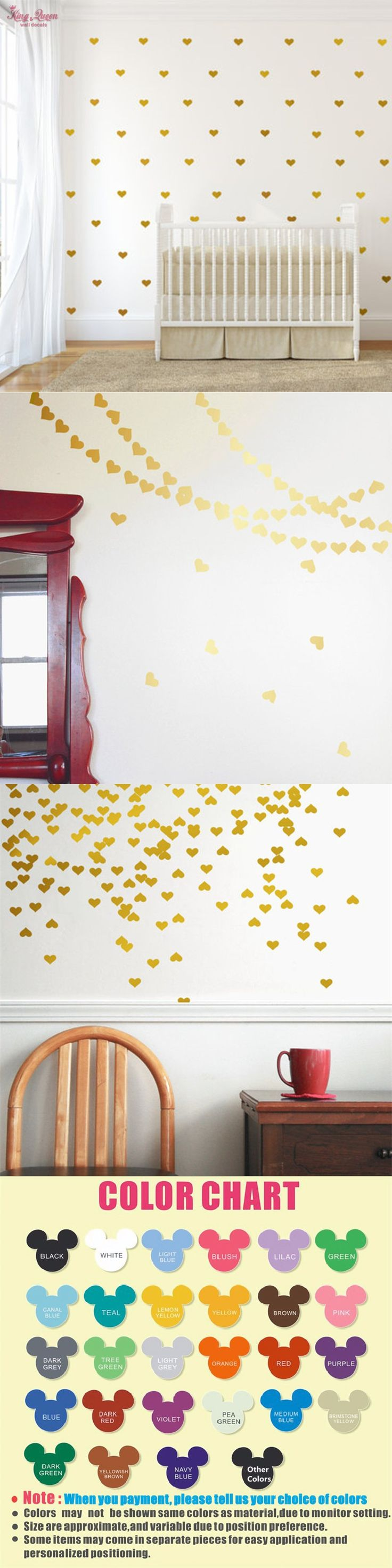 best 25 nursery wall murals ideas on pinterest nursery murals golden heart shape wall decal vinyl sticker kids bedroom wall art decor baby