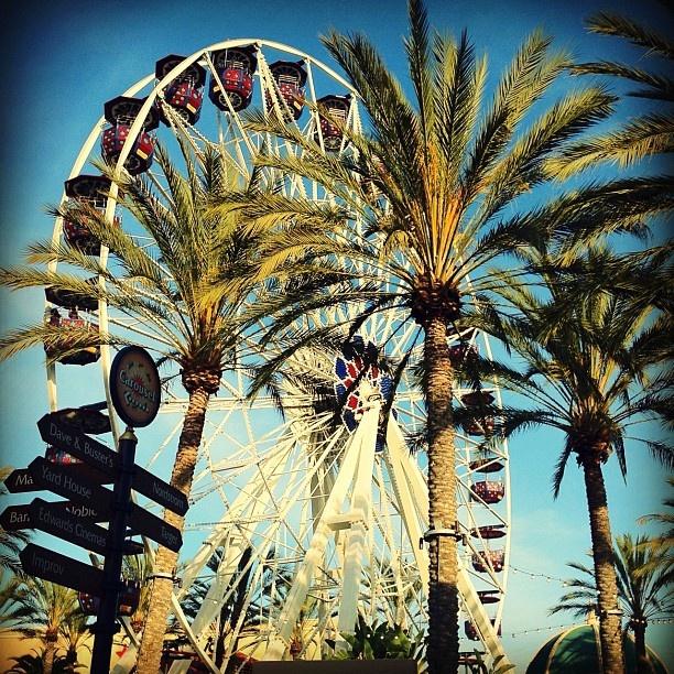 Irvine Spectrum Ferris Wheel..good view from the top.