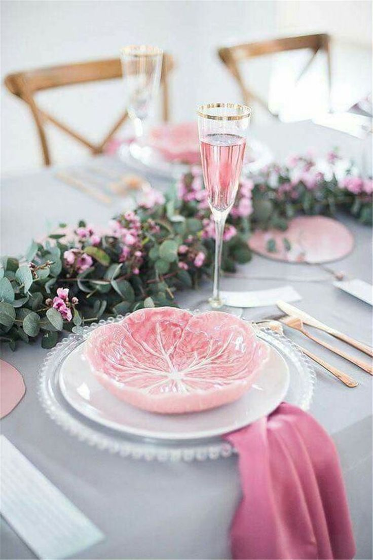 Pink Table Seating Sets Ideas Wedding Table Settings Pink Table Wedding Table