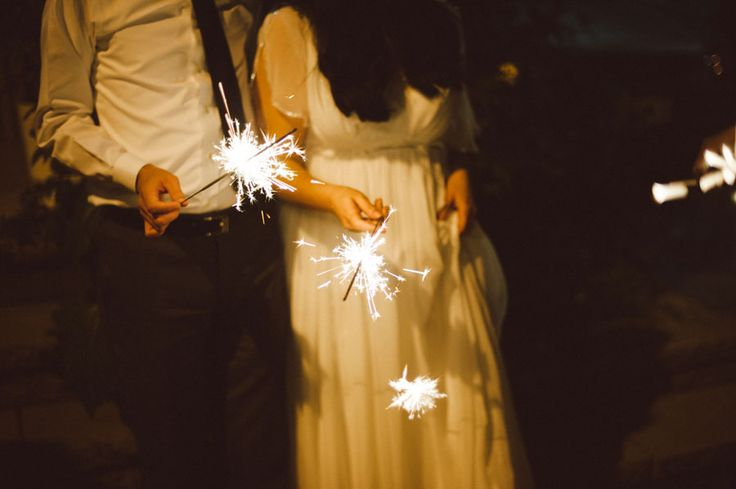 The Romantics | Etsy Weddings BlogEtsy Weddings Blog Sparklers at a night reception :)