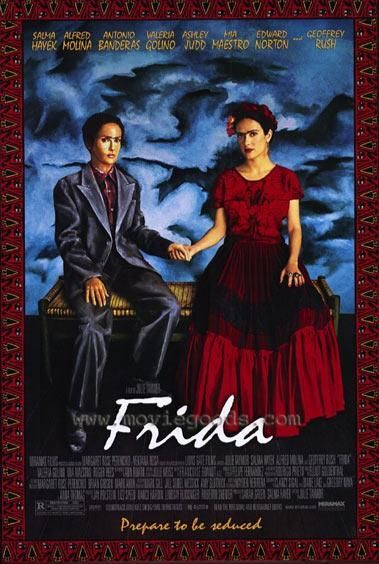 (SDRSP) Frida 2002 (dir. Julie Taymor) Rated 15 - (Masterpiece) - A biopic drama about the life and work of Mexico's most famous female artist Frida Kahlo which is so beautifully directed, it could be an extension of one of her canvases.