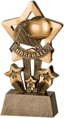 Tri-Star Baseball Trophy