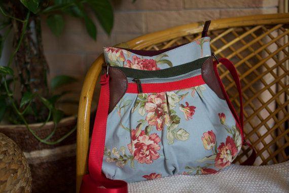 Romantische Crossbody Tasche - handgefertigt von eldoku