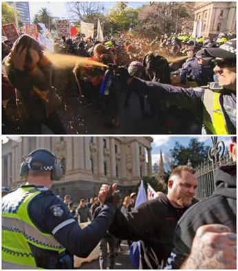 Posted by John, July 18th, 2015 - under Fascists, Fighting back, Melbourne Street Medics Collective, Racists, Reclaim (white) Australia, Resistance. Spot the different treatment anyone? This is the... http://winstonclose.me/2015/07/19/melbourne-street-medics-statement-on-police-attack-on-july-18-anti-racistanti-fascist-demonstration-written-by-john-passant/
