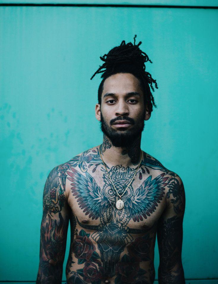 Portrait of male model stevisreyvis   Follow me on Instagram: robertl._simon     #vsco #portrait #portraiture #tattoos #men #malemodel #manbun #photography