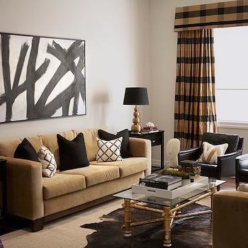 Black and Gold Living Room, Contemporary, living room, Diane Bergeron Interiors