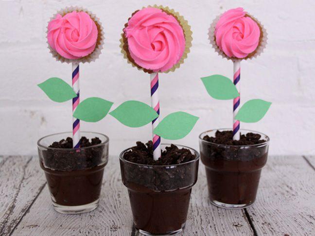 Flower Pot Dirt Cake Recipe Food Family Home Diy