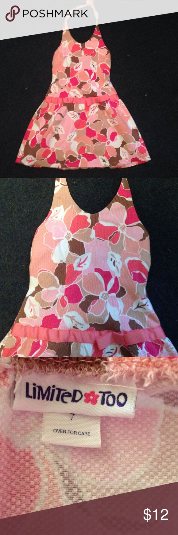 Cute halter sundress from Limited Too. Sz 7 Cute little halter/ sundress by Limited Too. Girls sz 7 Limited too Dresses