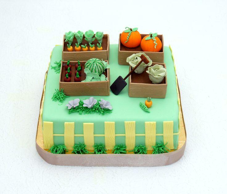 Картинки прикольных тортиков на огородную тему