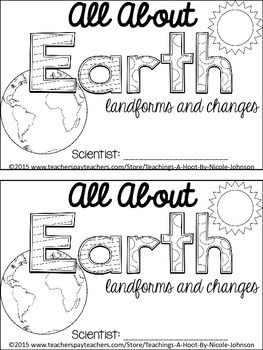 This 29-page science mini-book was created to help teach the Next Generation Science Standards for 2nd grade in Earth's systems: processes that shape the Earth.   It covers the following principles: what is the earth made of, what is a landform, what is a body of water, slow vs.