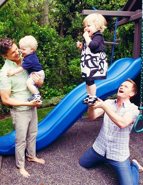 Neil Patrick Harris & David Burtka. (I watched this Oprah interview, what a loving family)