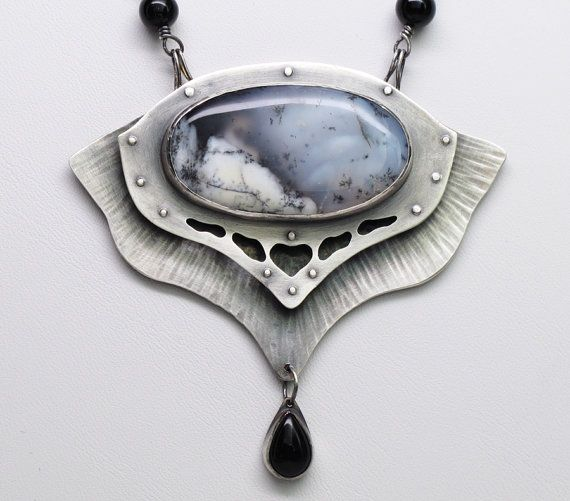 Above The Clouds Necklace Sterling Silver by ZLeslieJewelry, $420.00