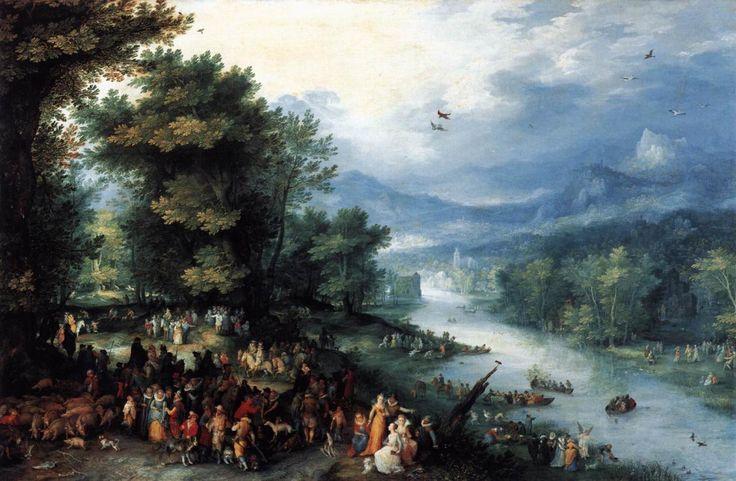 Brueghel. Paysage avec le jeune Tobie (1598)