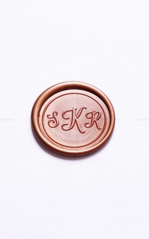 Custom Monogram Wax Seal Stamp