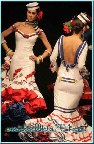 .Trajes de Flamenca Andalucía, Sevilla, Lebrija