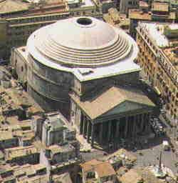 Pantheon, architect unknown, Rome 126 A.D. Largest structure of unreinforced concrete in the world.