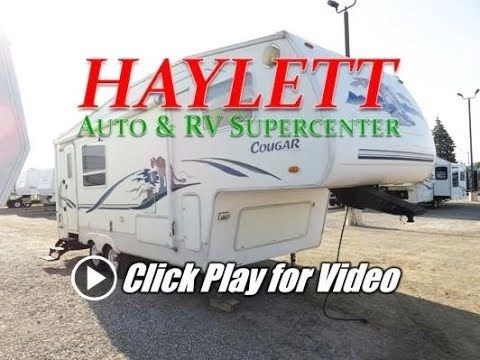 HaylettRV - Cougar 245 Used Rear Kitchen Couple's Camping Fifth Wheel by...