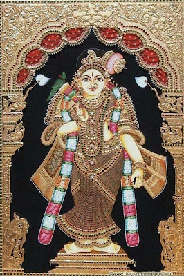 Tanjore painting - Andal I plan on getting this and a ganesha one