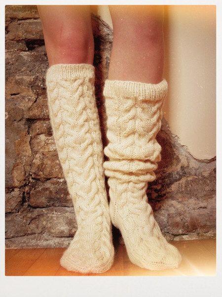 Socken - Wollsocken, Socken zum Wandern, Handgestrickte Soc - ein Designerstück von Beatrix-Beatrice bei DaWanda