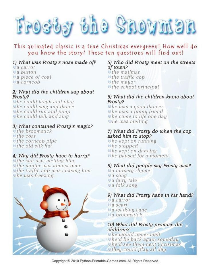New Years Eve Trivia