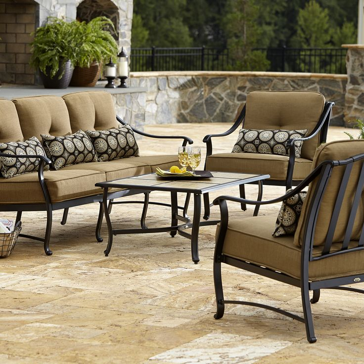 La-Z-Boy Outdoor - DLAO-4PC - Landon 4 Piece Seating Set* Limited Availability | Sears Outlet