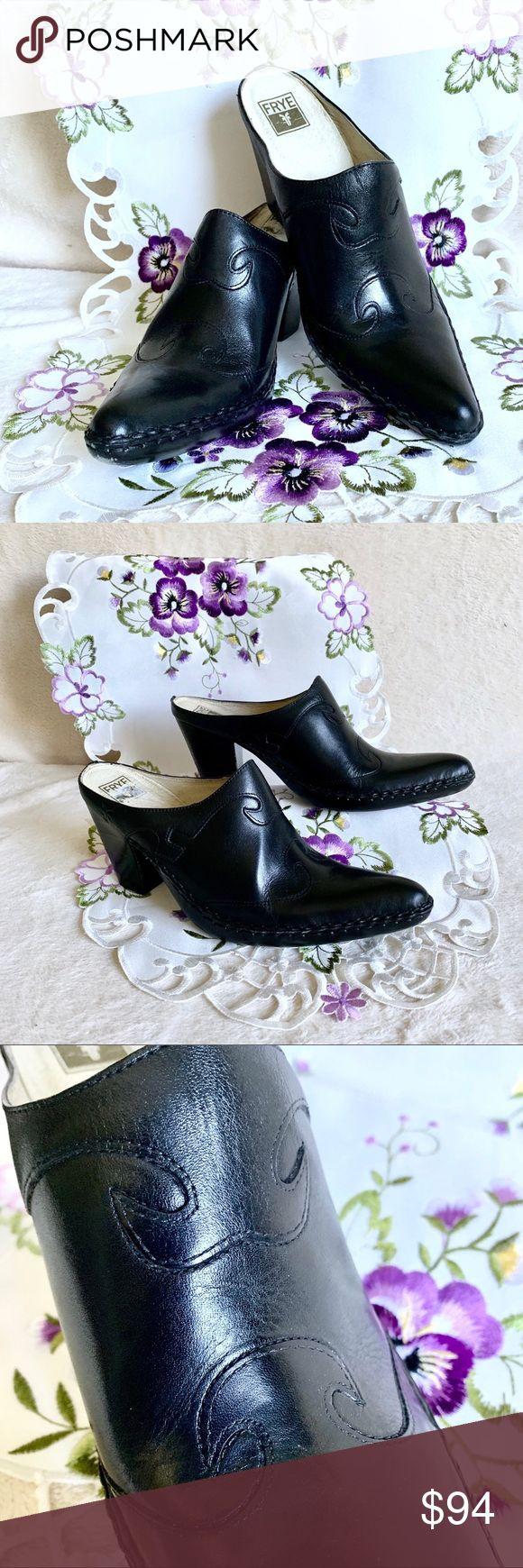 Frye Schuhe | Frye Phoenix Pantoletten Größe 8.5 In Schwarz | Farbe: Schwarz | Größe: 8.5