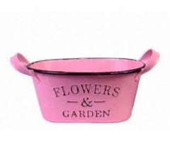 Masca ghiveci flori roz