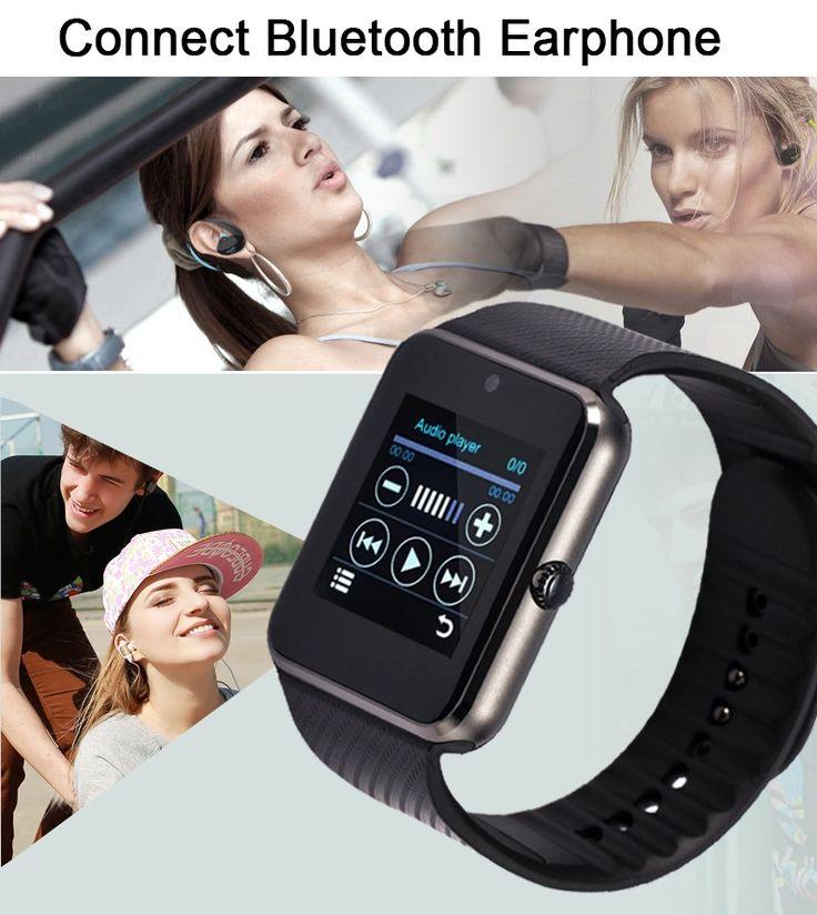 "Edwo GT08 Bluetooth Smart Watch 1.54"" With Sim Card Slot Push Message Pedometer Smartwatch Clock For Android Phone PK A1 U8 DZ09 - Good Spark Shop Good Spark Shop"