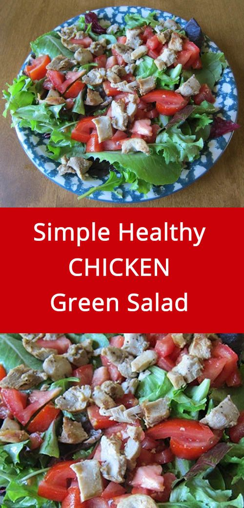 Simple Healthy Salad With Chicken, Lettuce & Tomatoes – MelanieCooks: On The Blog