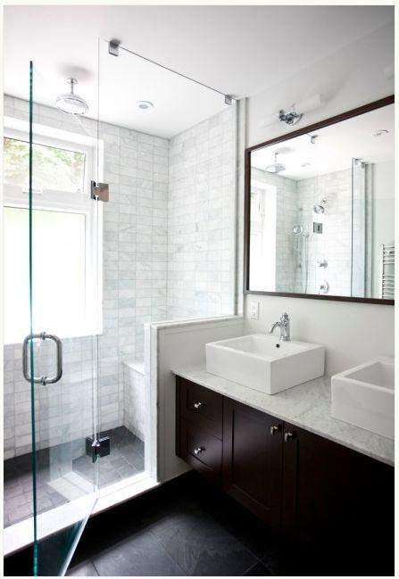 countertops, modern bathroom, white, espresso