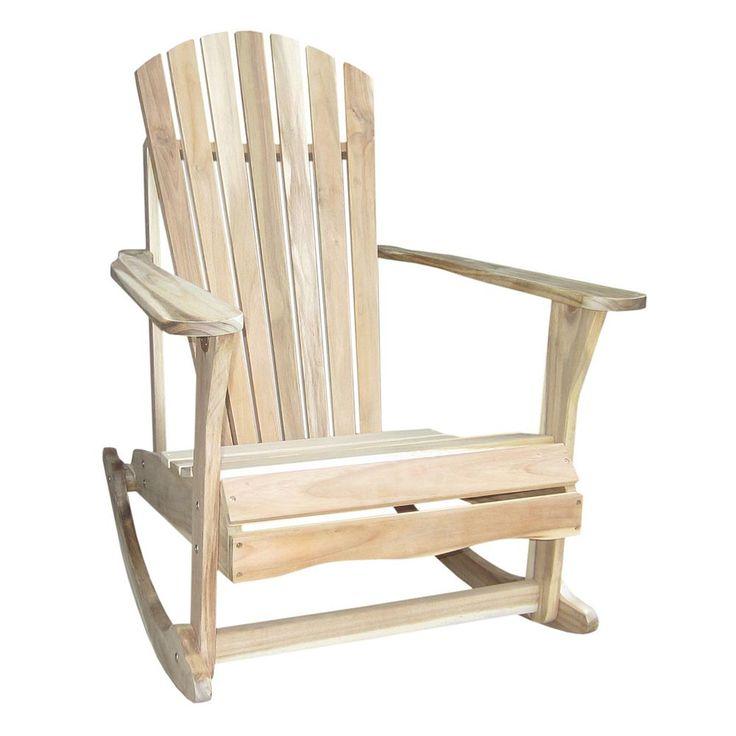 Outdoor Adirondack Rocking Chair, Multicolor