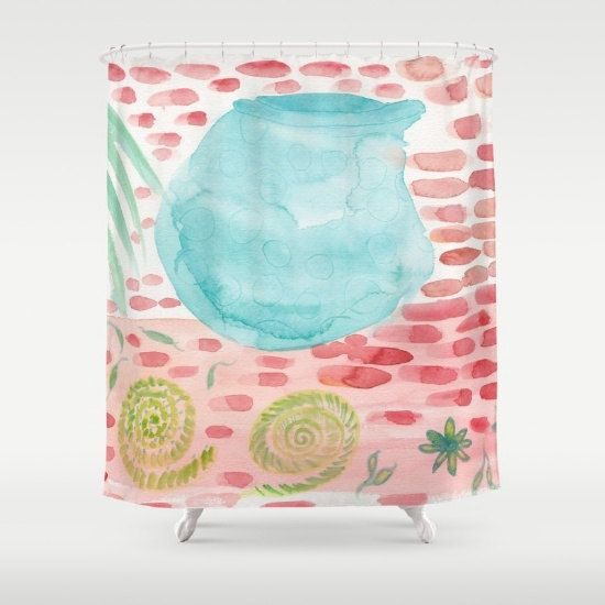 Southwestern Style Shower Curtain The Bowl by ArtfullyFeathered