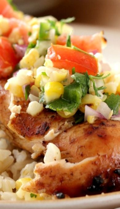 Grilled Honey Lime Chicken and Corn Salsa #WhatAGrillWants | Recipe