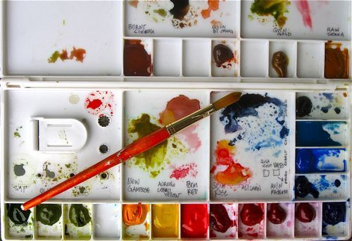 @Diana Trout's 7 watercolor lessons! I love her style for Mixed Media Art Journals.